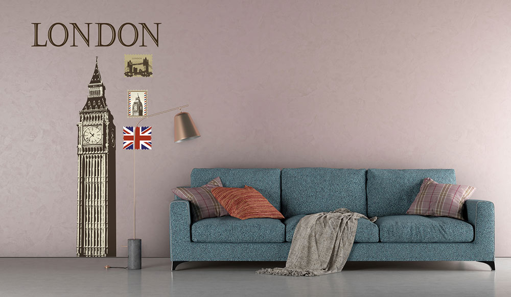 Nalepka na stenu Londyn