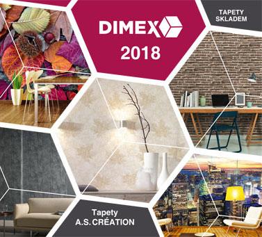 Skladový katalóg tapiet Dimex 2018
